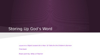 Storing Up God's Word