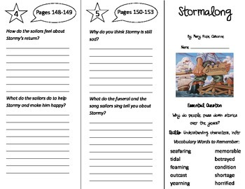 Stormalong Trifold - Journeys 4th Grade Unit 1 Week 5 (201