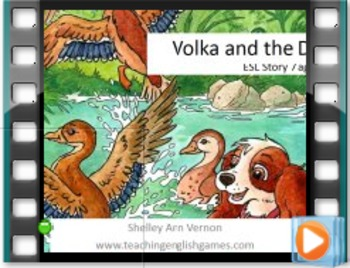 Story 7 Ducks - Movie with audio for action verbs, nouns f