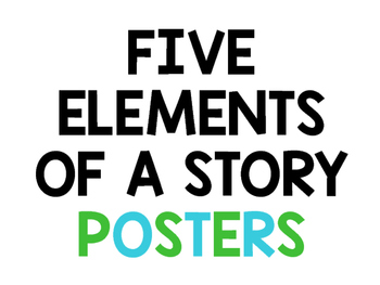 Story Element Posters FREE