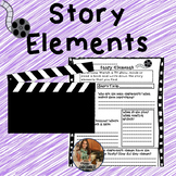 Story Elements And Theme Resources-Includes Writing Prompt