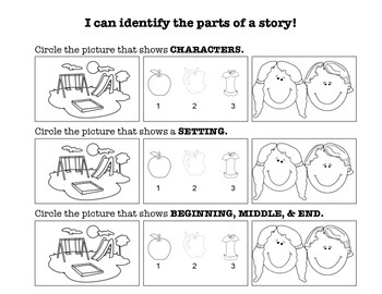 Story Elements Assessment (Character, Setting, and Beginni
