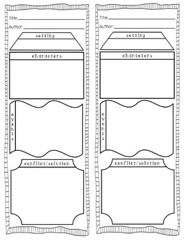 Story Elements Bookmark [For Reading]