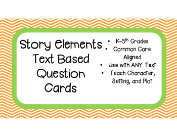 Story Elements (Character, Setting, Plot) Text Based Quest