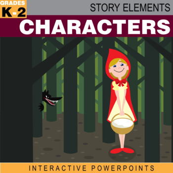 Story Elements: Characters–Interactive PowerPoint w/ Diffe