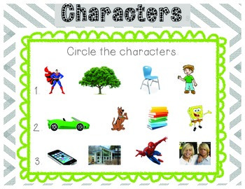 Story Elements - Characters & Setting No Prep Practice Mats