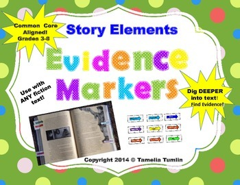 (Story Elements) Interactive Close Reading Evidence Marker