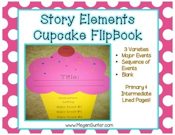 Story Elements Flip Book {Cupcake}
