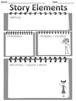 Story Elements Graphic Organizer (FREE)