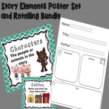 Story Elements Graphic Organizer Bundle