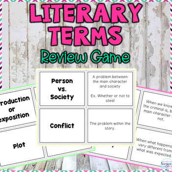 Story Elements, Lit Terms and Figurative Language Game