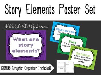 Story Elements Posters & Graphic Organizer