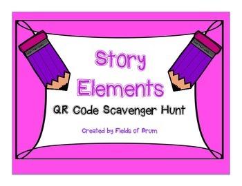 "QR Code Scavenger Hunt ""Story Elements"""