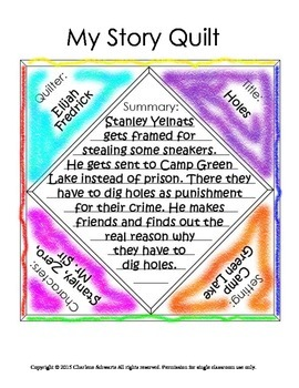 Story Elements Quilt Book Report