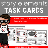 Story Elements Task Cards: Problem, Solution, Setting & Character