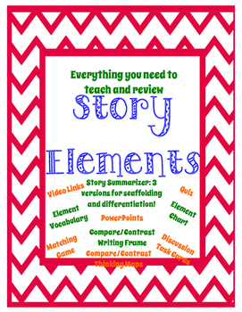 Story Elements Unit - NO PREP - Story Elements and Compare