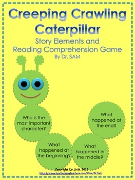 """Story Elements and Reading Comprehension Game """"Creeping Cr"""
