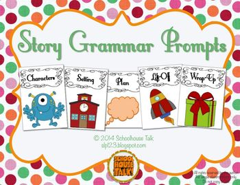 Story Grammar Prompts {for story retell and story generation}