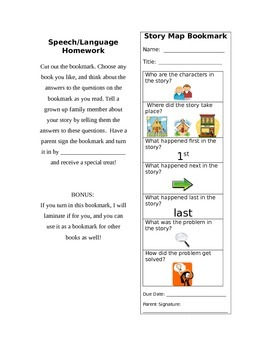 Story Map Bookmark
