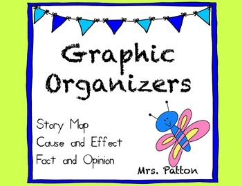 Story Map Graphic Organizers  - Cause and Effect, Problem