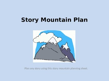 Story Mountain Planner for interactive board