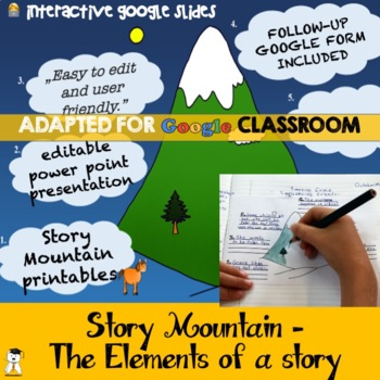 Story Mountain Set - Editable Presentation and Printables