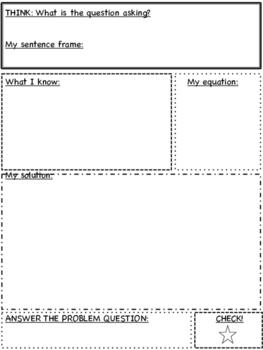 Story Problem Graphic Organizer