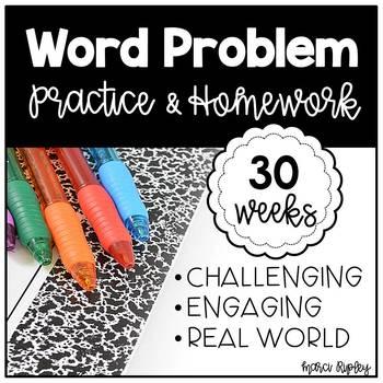 30 Weeks of Word Problem Practice & Homework