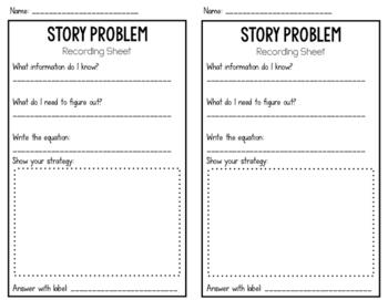Story Problem Recoding Sheet