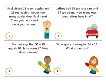 Story Problem and Estimation Task Cards