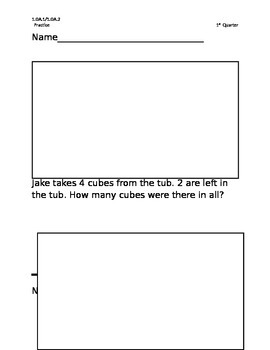 Story Problems 1st grade-1st qu. with all 9 problem types