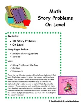 Story Problems~Adding and Subtracting~On Level