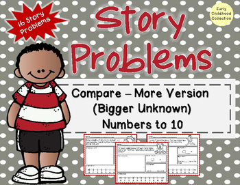 Story Problems-Compare:Bigger Unknown {more version} Word