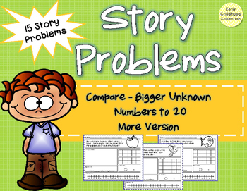 Story Problems - Compare:Bigger Unknown {more version} to