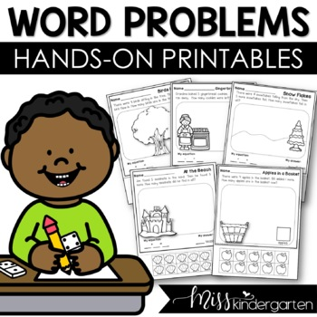 Story Problems Seasonl bundle {addition & subtraction to 10}