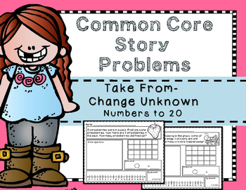 Story Problems Take From- Change Unknown {Missing Subtrahe