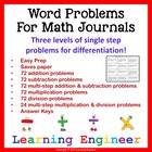Addition Word Problems & Subtraction Word Problems (Multip