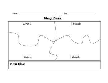 Story Puzzle Graphic Organizer
