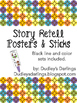 Story Retell Bundle Questions, Poster, Sticks