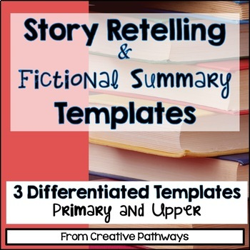 Story Retelling Template Freebie, Fictional Summary Template