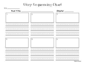 Story Sequencing Chart Graphic Organizer for Chapters
