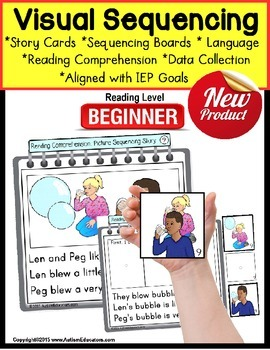 Story Sequencing with Pictures and Text BEGINNING READERS