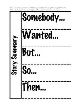 Story Summary Interactive Notebook Organizer