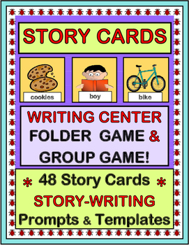 """Story Cards"" -- Writing Center Folder Game and Group Game"