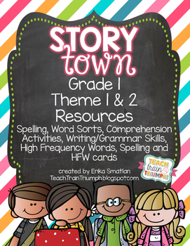 Story Town Grade 1 Resources {Theme 1 & 2}