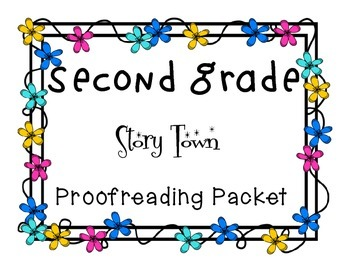 Harcourt StoryTown Second Grade Proofreading Bundle lessons 1-30