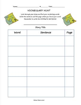 Story Vocabulary Hunt