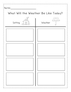 Story: What Will the Weather Be Like Today?- Setting & Weather