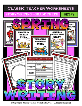 Story Writing-Spring-Grade 3 (3rd Grade)-Story Maps and St