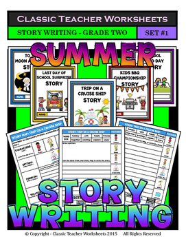 Story Writing-Summer-Grade 2 (2nd Grade)-Story Maps and St